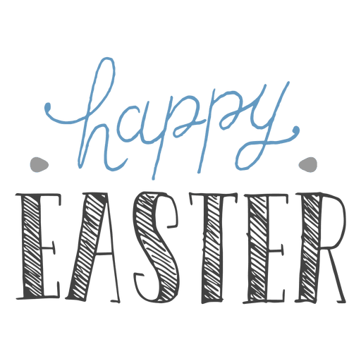 Easter Text Transparent & PNG Clipart Free Download - YWD