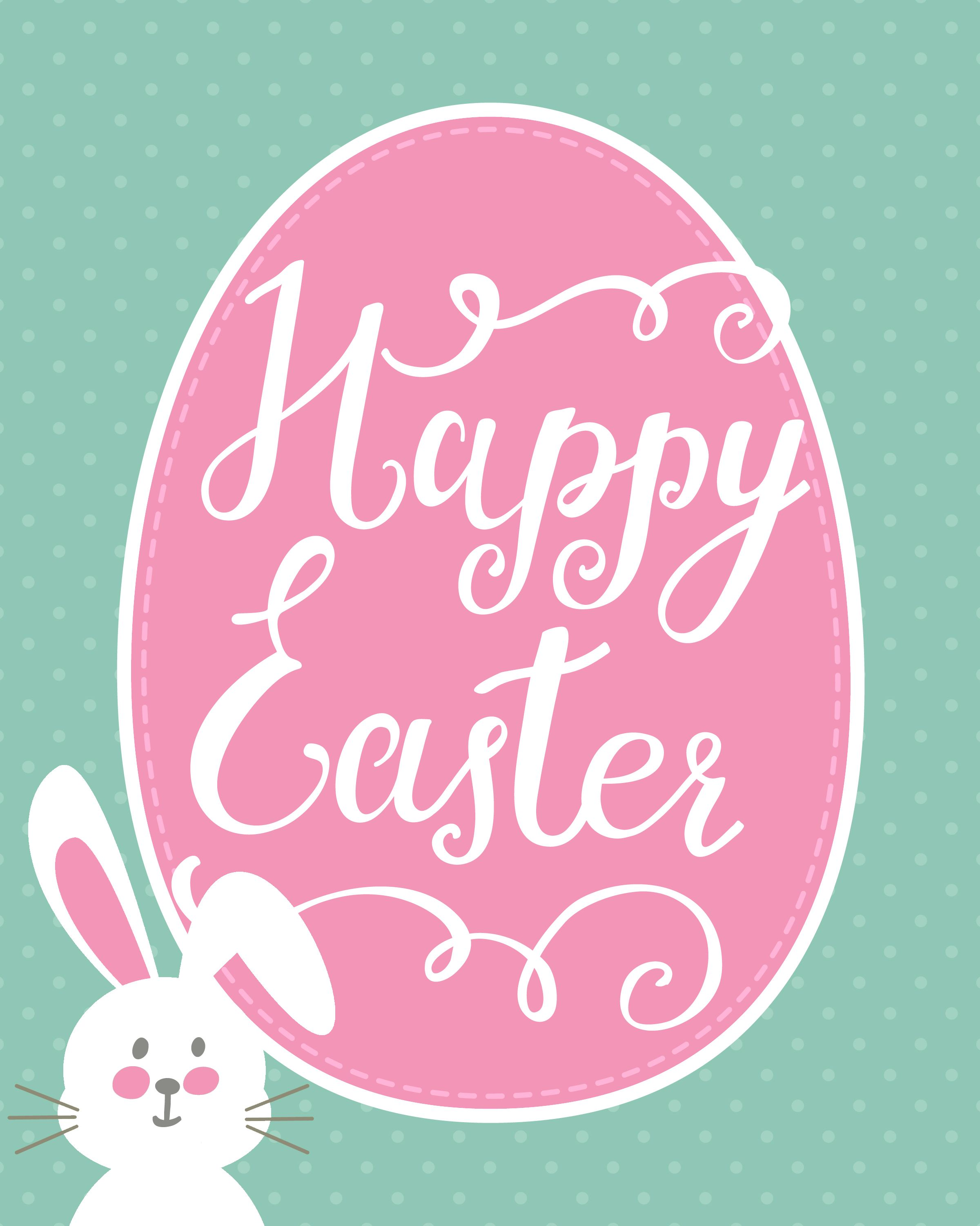 Happy easter png bubble letter. Bunny printable blog hop