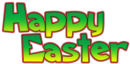 Happy easter png bubble letter. Free sunday clipart download