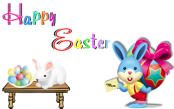 Happy easter png cartoon.