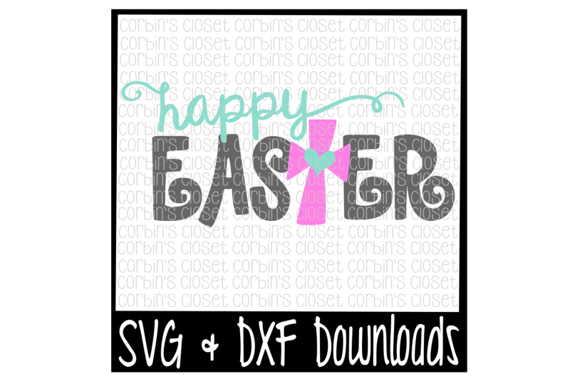 Happy easter png cross. Free svg cut file