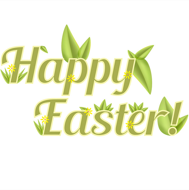 Happy easter png green. English word clipart image