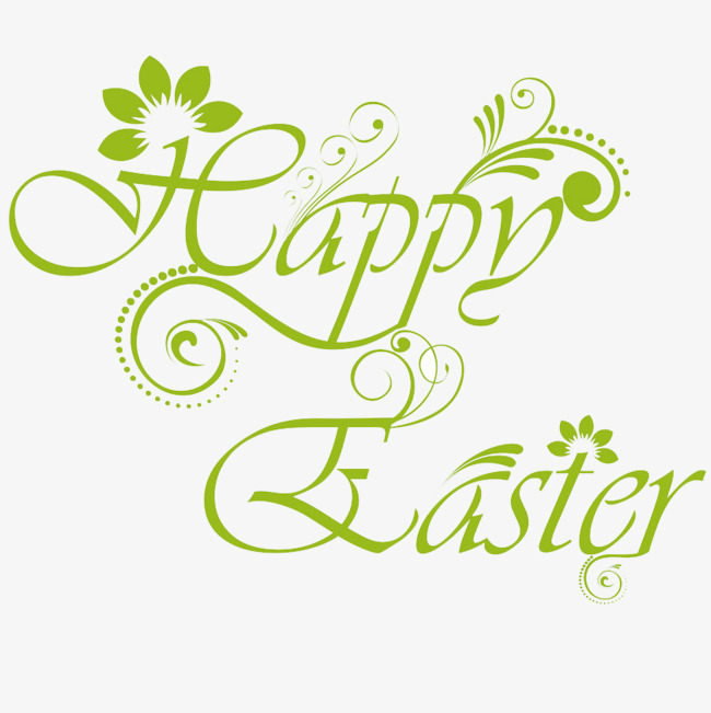 Happy easter png green. Wordart clipart image and