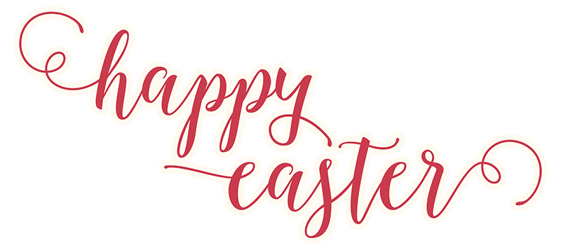 Happy easter png images. Text transparent stickpng