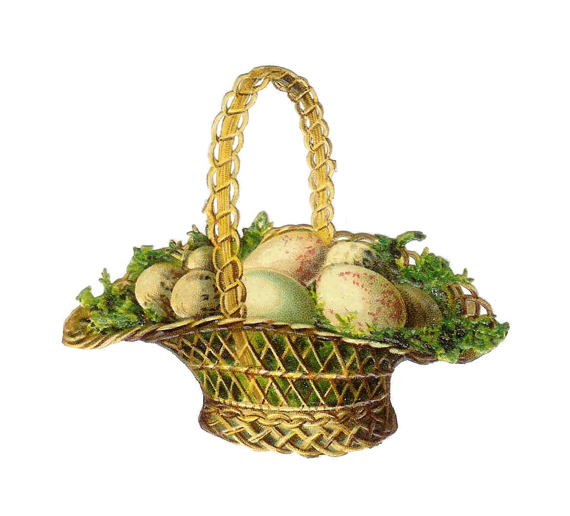Happy easter png vintage. Basket freeuse download rr
