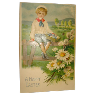 Happy easter png vintage. Post card momsjunk ruby