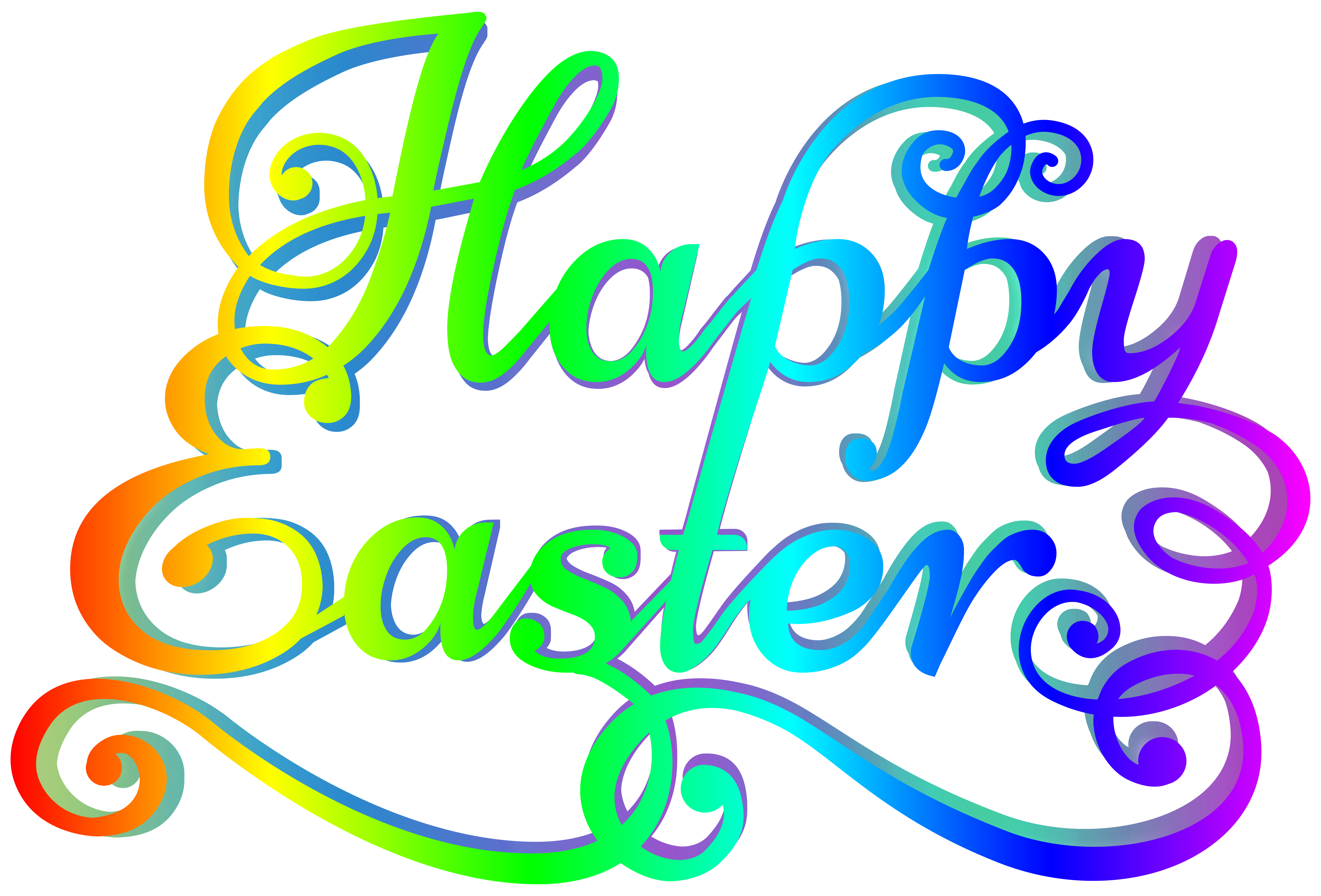 Happy easter transparent png. Rainbow clip art image