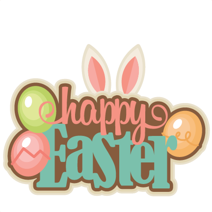 Happy easter clipart transparent. Colourful png stickpng