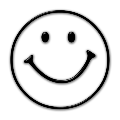 Happy face clipart png. Smiley black and white