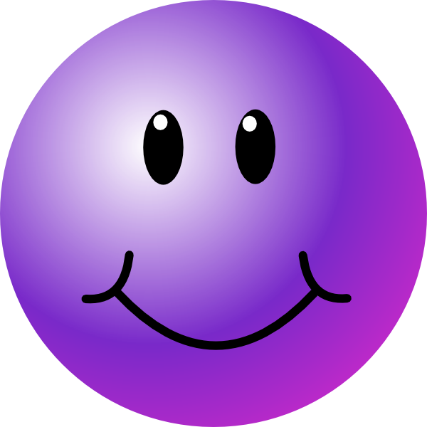 Happy face clipart png. Purple smiley clip art