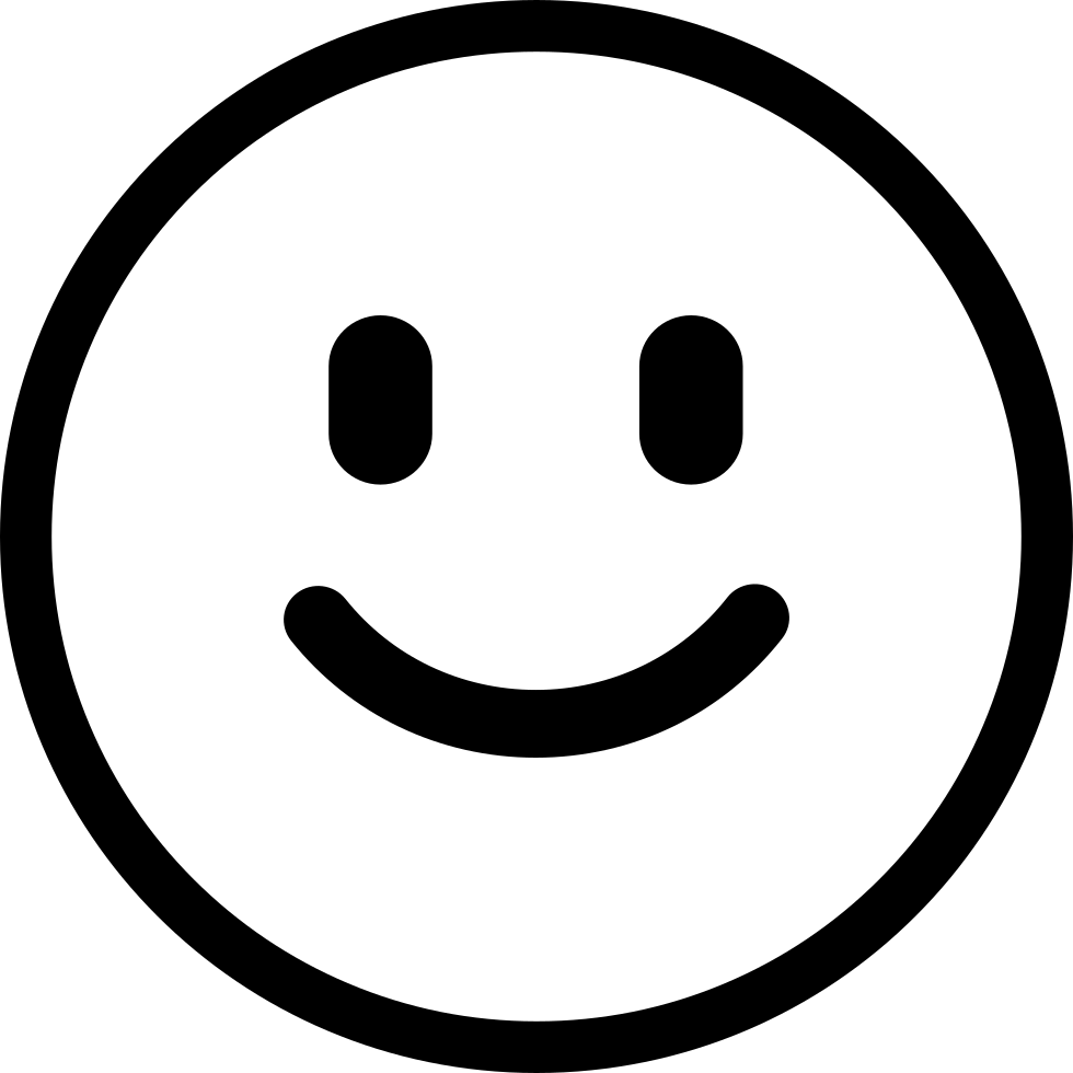 Happy face png black and white. Smiling svg icon free