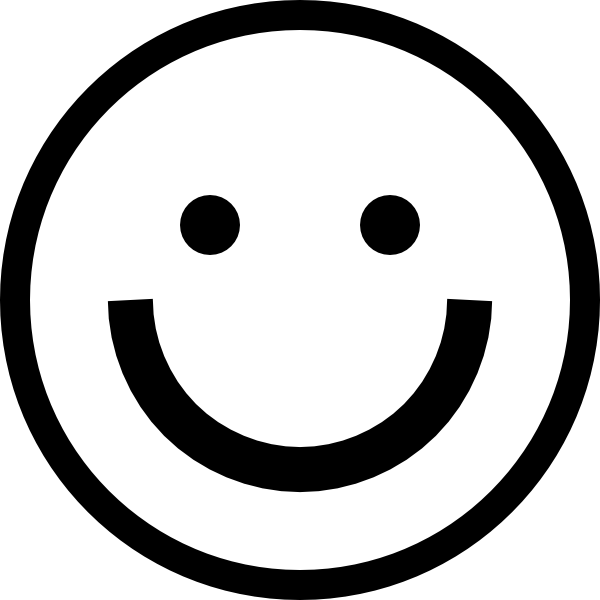 smiley face black and white png