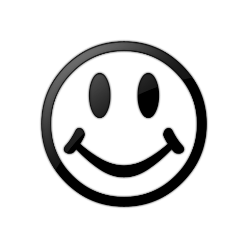 black and white smiley face png