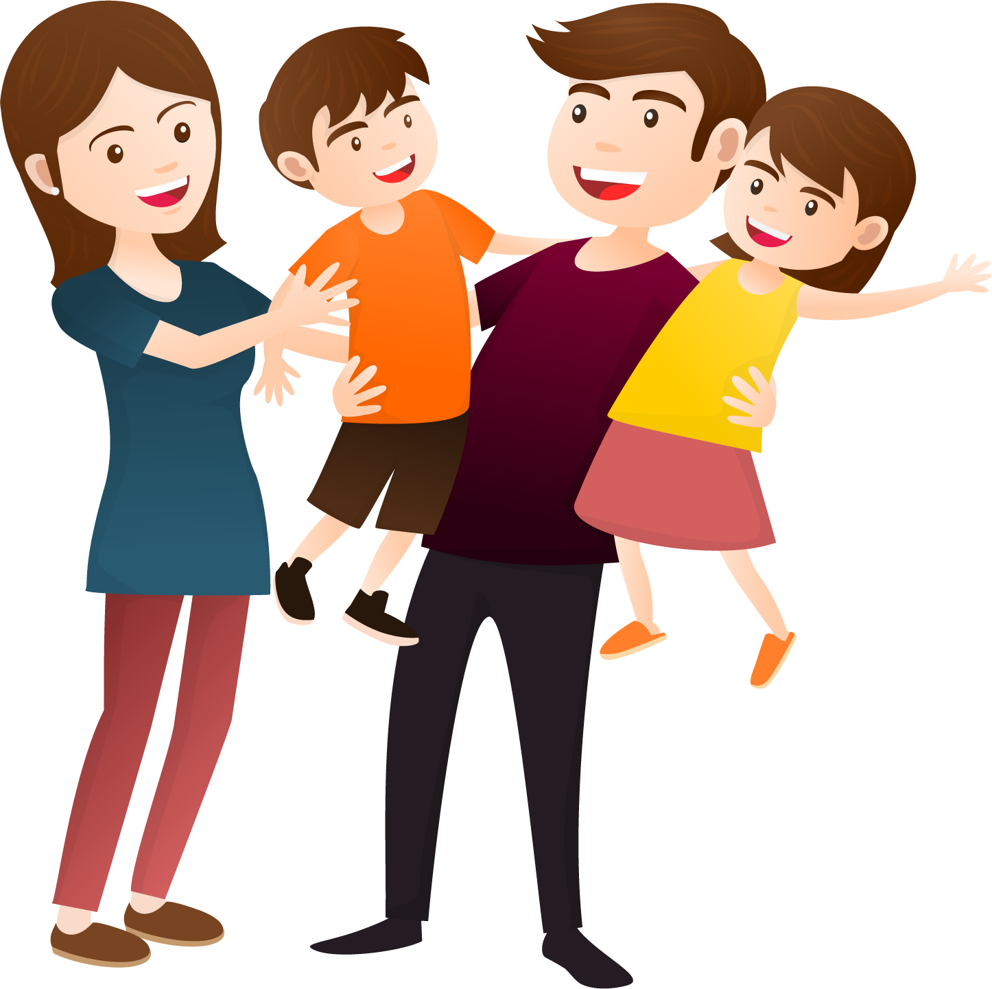 Happy family clipart png. Collection of high