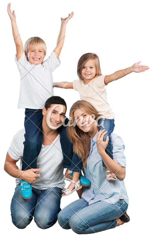 Happy family png. Photos by canva