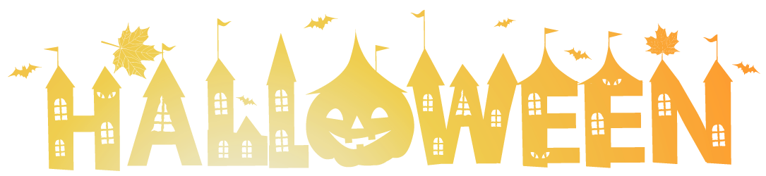 Happy halloween background png. Transparent deco clipart