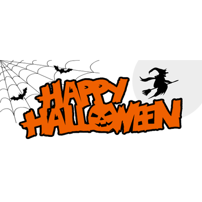 Happy halloween background png. Banner transparent stickpng