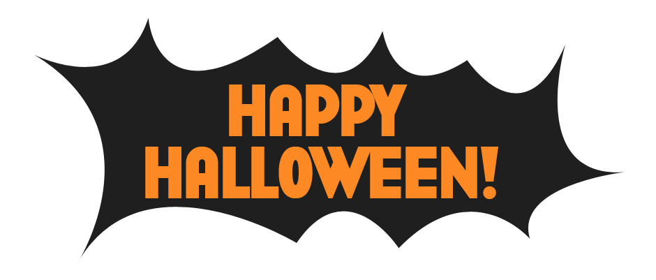 Happy halloween background png. Black transparent