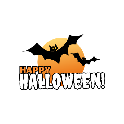 Happy halloween logo png. Logos free maker bats