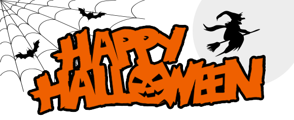 Happy halloween logo png. Banner transparent stickpng