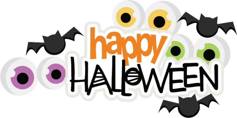Happy halloween logo png. Svg scrapbook title spiderweb