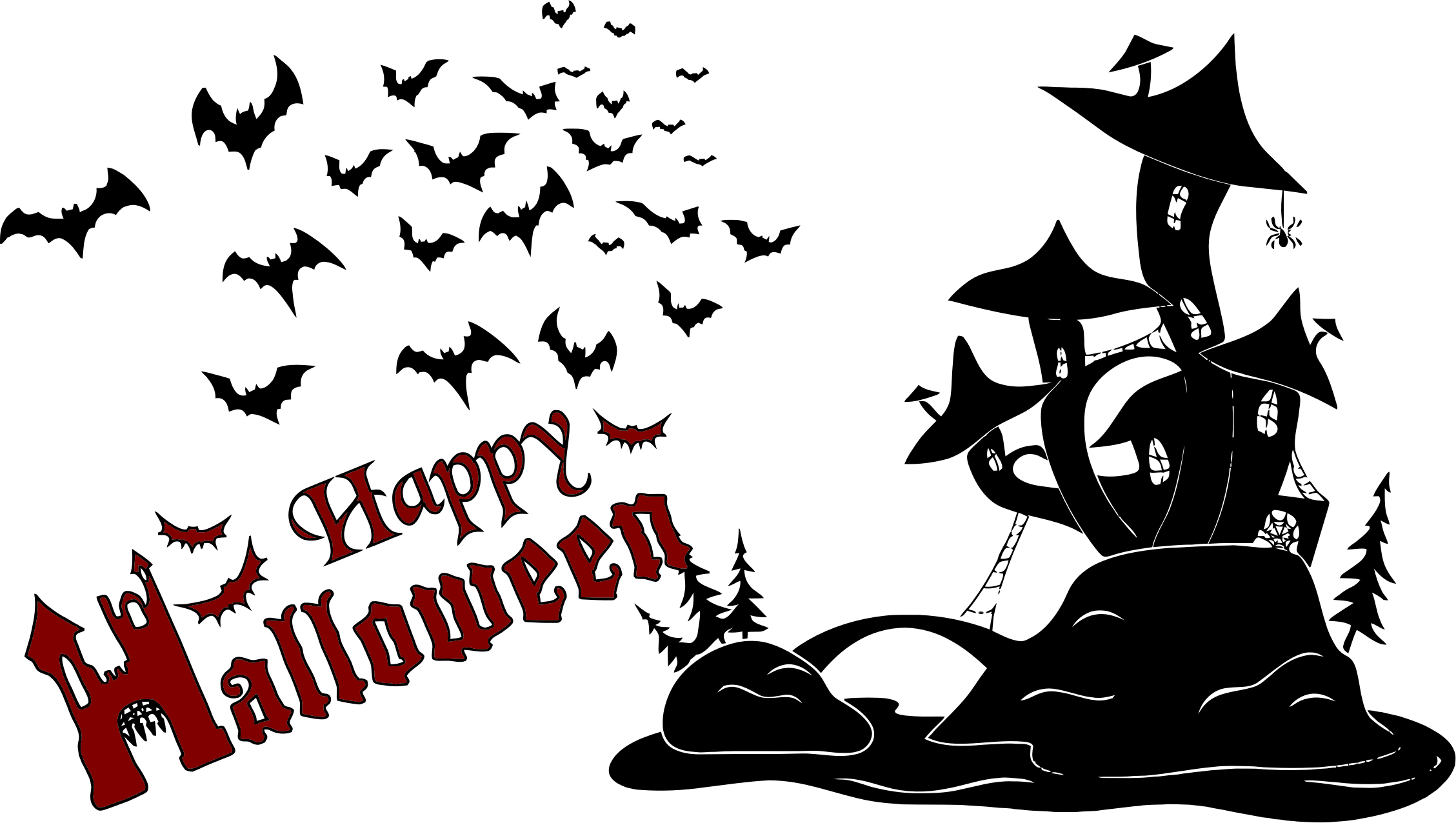 Happy halloween .png. Scene silhouette icons png