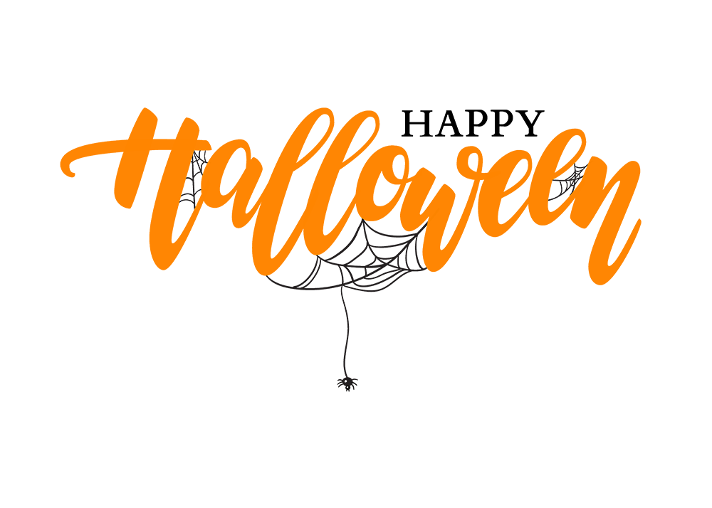 Happy halloween logo png. Text image