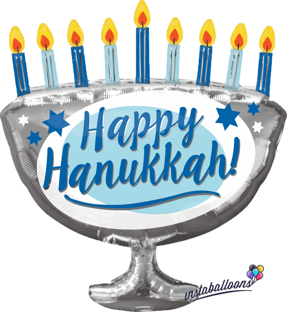 Happy hanukkah png. Menorah large balloon instaballoons