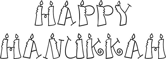 Happy hanukkah png. Candles sign transparent stickpng