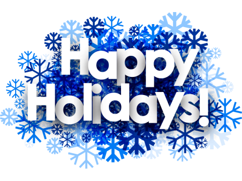 happy holidays clipart blue