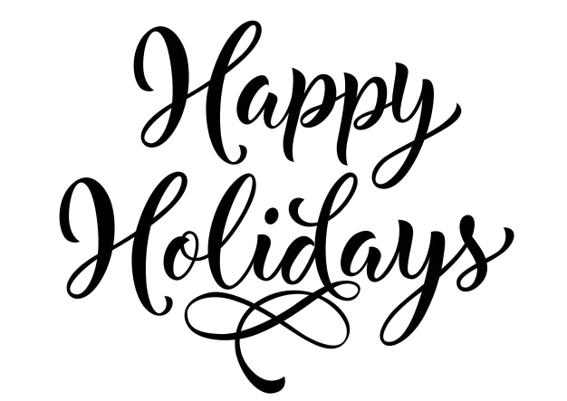 Happy holidays white png. Pic arts