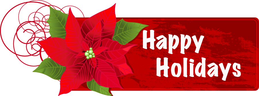 Holiday png file. Image happy holidays flower