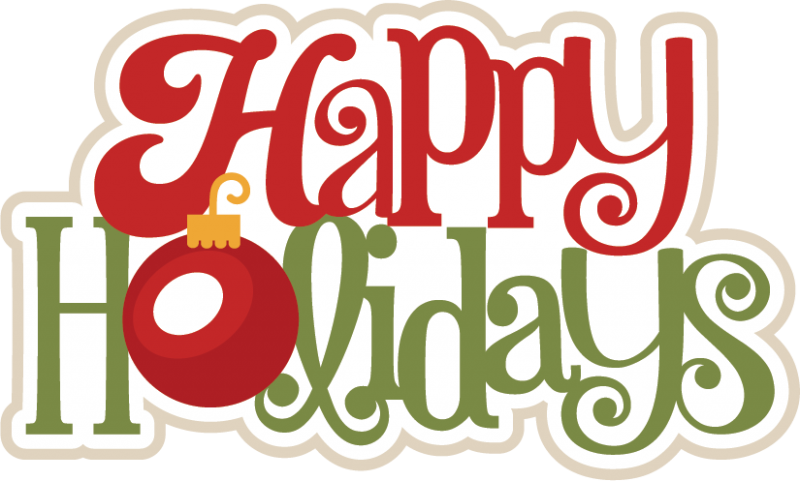 happy holidays clipart transparent background