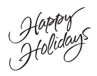 happy holidays clipart black and white
