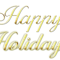 Happy holidays png gold. Clipart images c