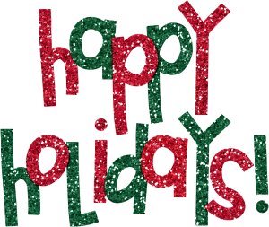 Happy holidays png glitter. Clipart images