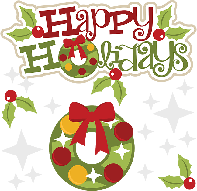 Happy holidays png vintage. Clipart junction generic holiday