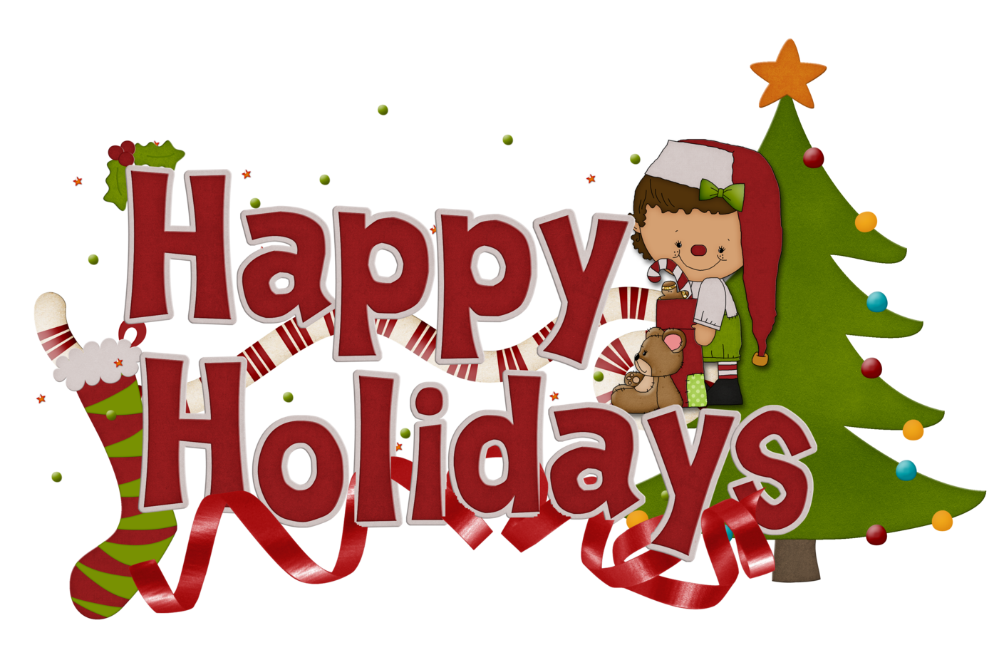 Happy holidays clipart reindeer. Holiday hour christmas clip