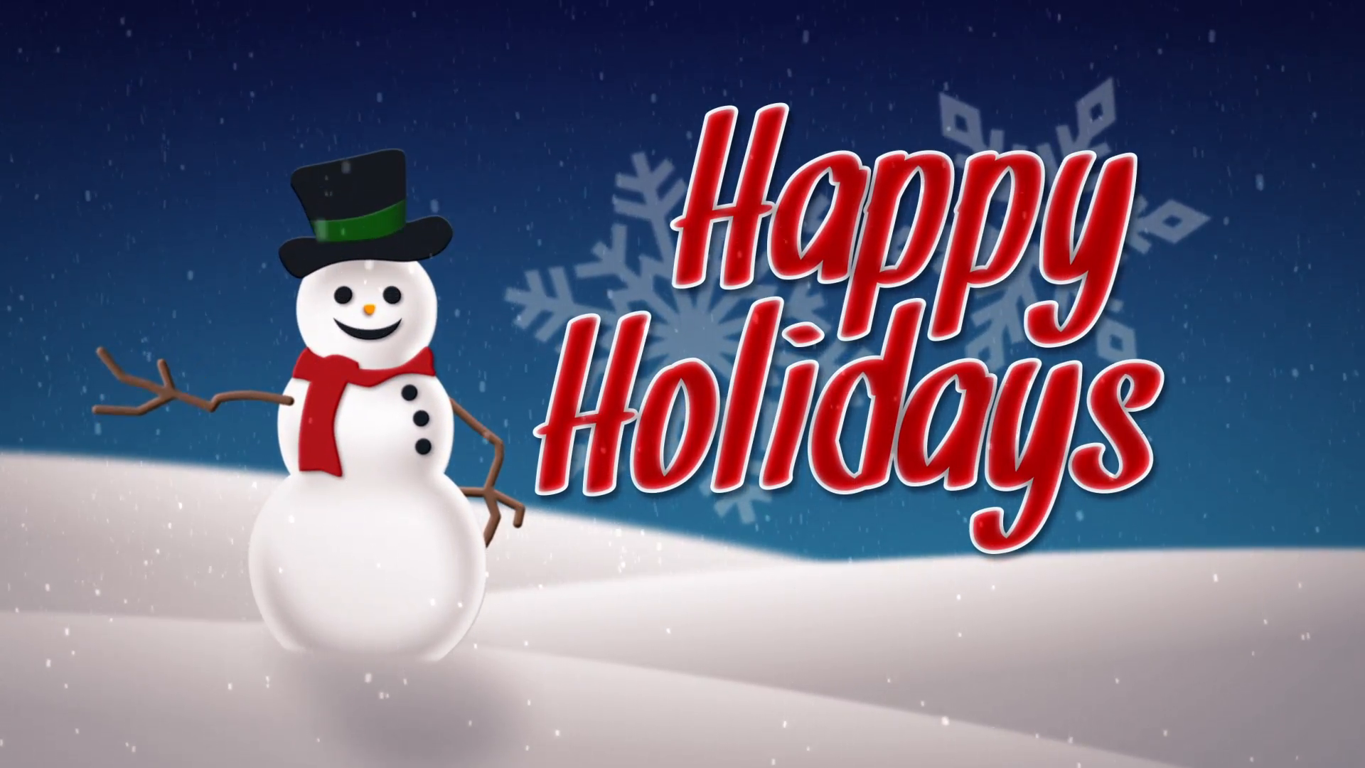 happy holidays png animated