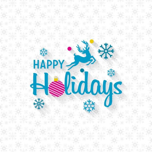 happy holidays png snow