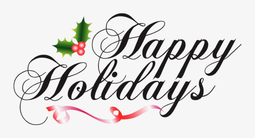 Happy holidays png clip art. My dear chamber members