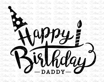 Happy holidays png cursive. Svg etsy birthday daddy