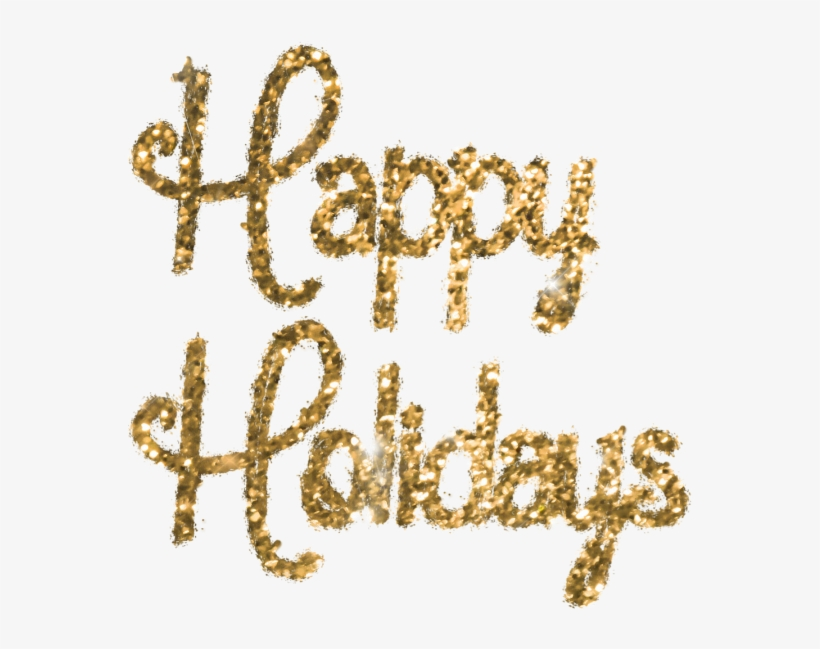Happy holidays png glitter. Happyholidays ftestickers