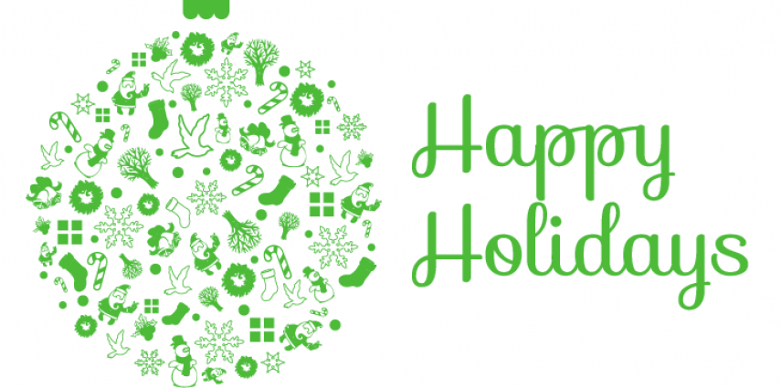 Happy holidays png green. Dynamic connections wishes a