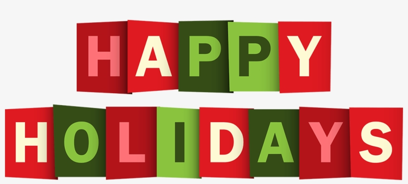 Happy holidays png green. Text free image transparent