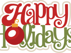 Happy holidays png green. Vector clipart psd page