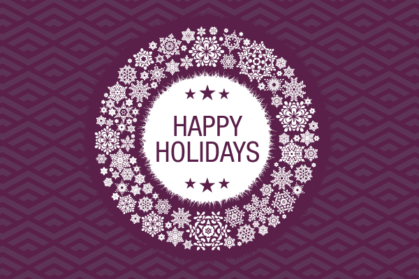 Happy holidays png purple. And new year