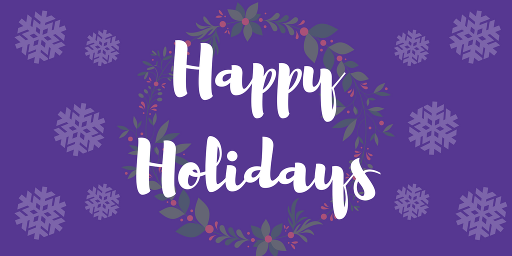 Happy holidays png purple. Community corner to you