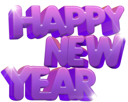 Happy holidays png purple. New year hd