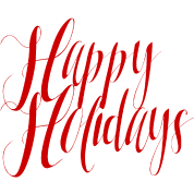 Happy holidays png red. Script women s t